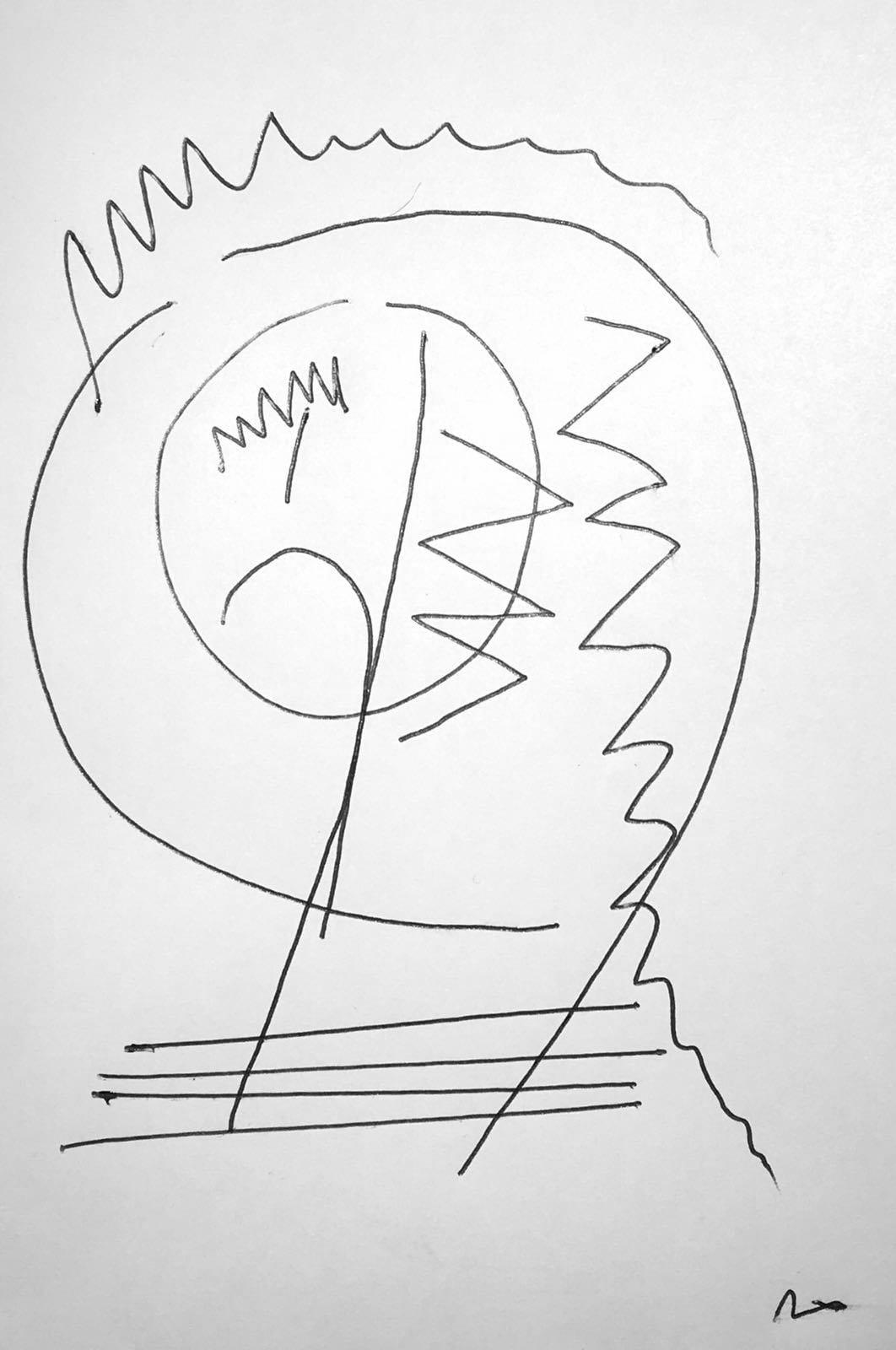 Die Zeichnung steht für den Stuhlkreis, der aus verschiedene Ebenen besteht und Konflikte darstellt. (Philip)