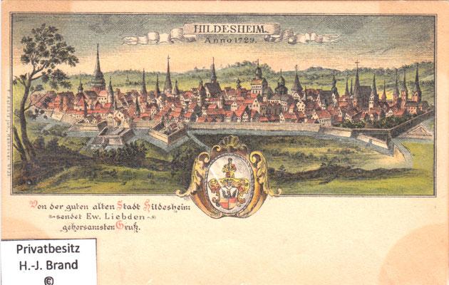 Geschichte der Stadt Hildesheim - Ansichtskarte2