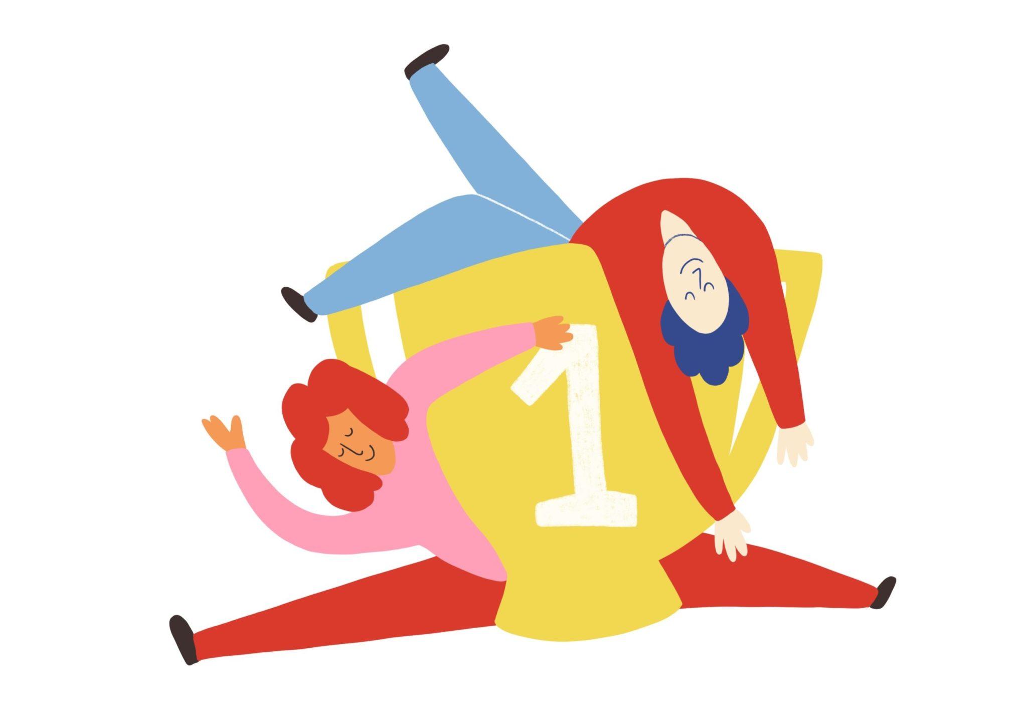 Illustration aus dem Reader Grundbegriffe für kulturelle Bildung Kapitel Zur Verschränkung von kultureller Bildung & Teilhabe am Beispiel des up-and-coming-Festivals