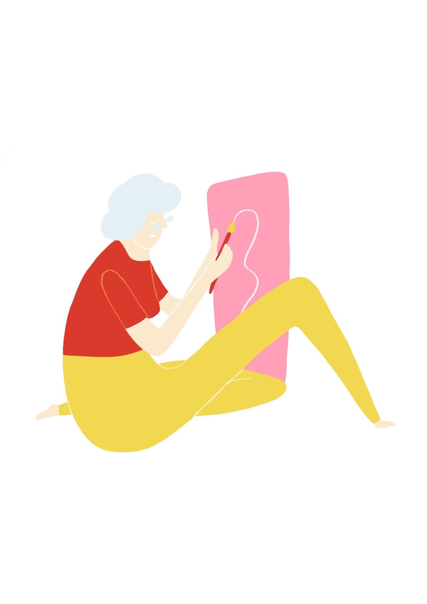 Illustration aus dem Reader Grundbegriffe für kulturelle Bildung Kapitel Kulturelle Erwachsenenbildung
