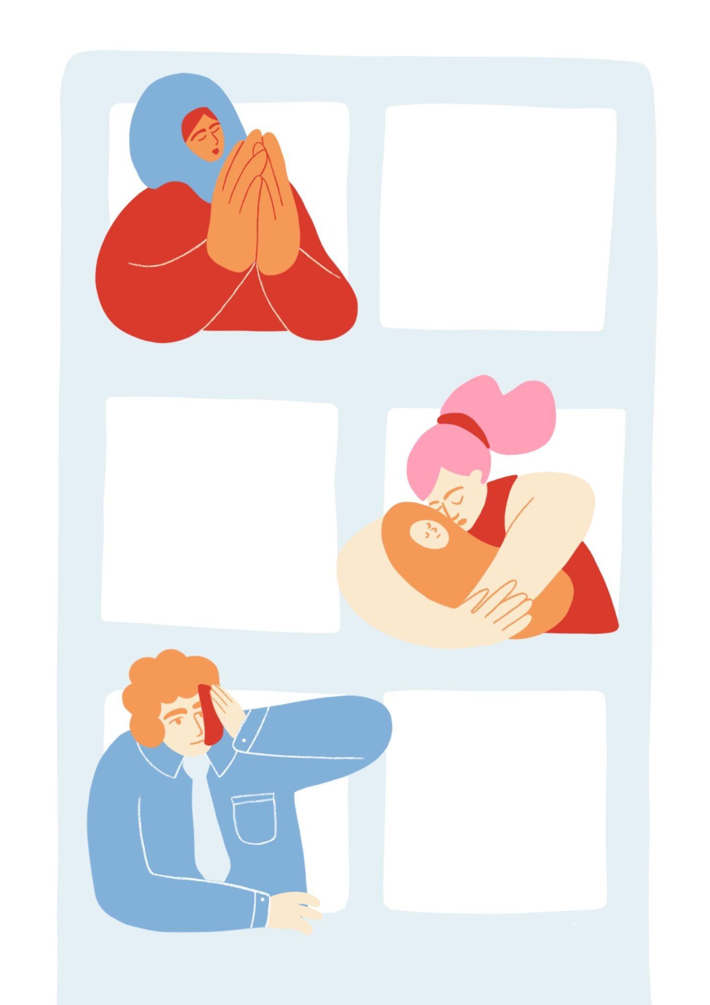 Illustration aus dem Reader Grundbegriffe für kulturelle Bildung Kapitel Sozialraumorientierung in der kulturellen Bildung