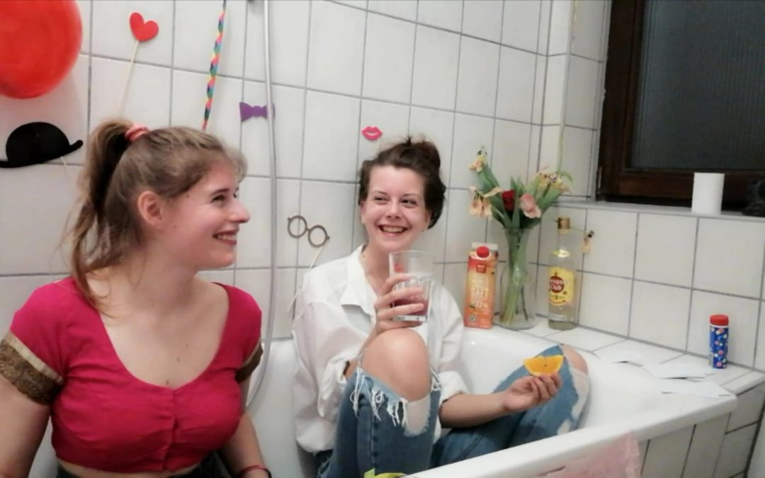 In der Badewanne mit Lilly