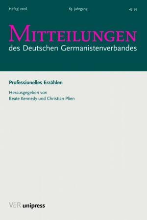 Den eigenen Text als fremden lesen. Zur Autoren- Ausbildung am Hildesheimer Institut für Literarisches Schreiben und Literaturwissenschaft.