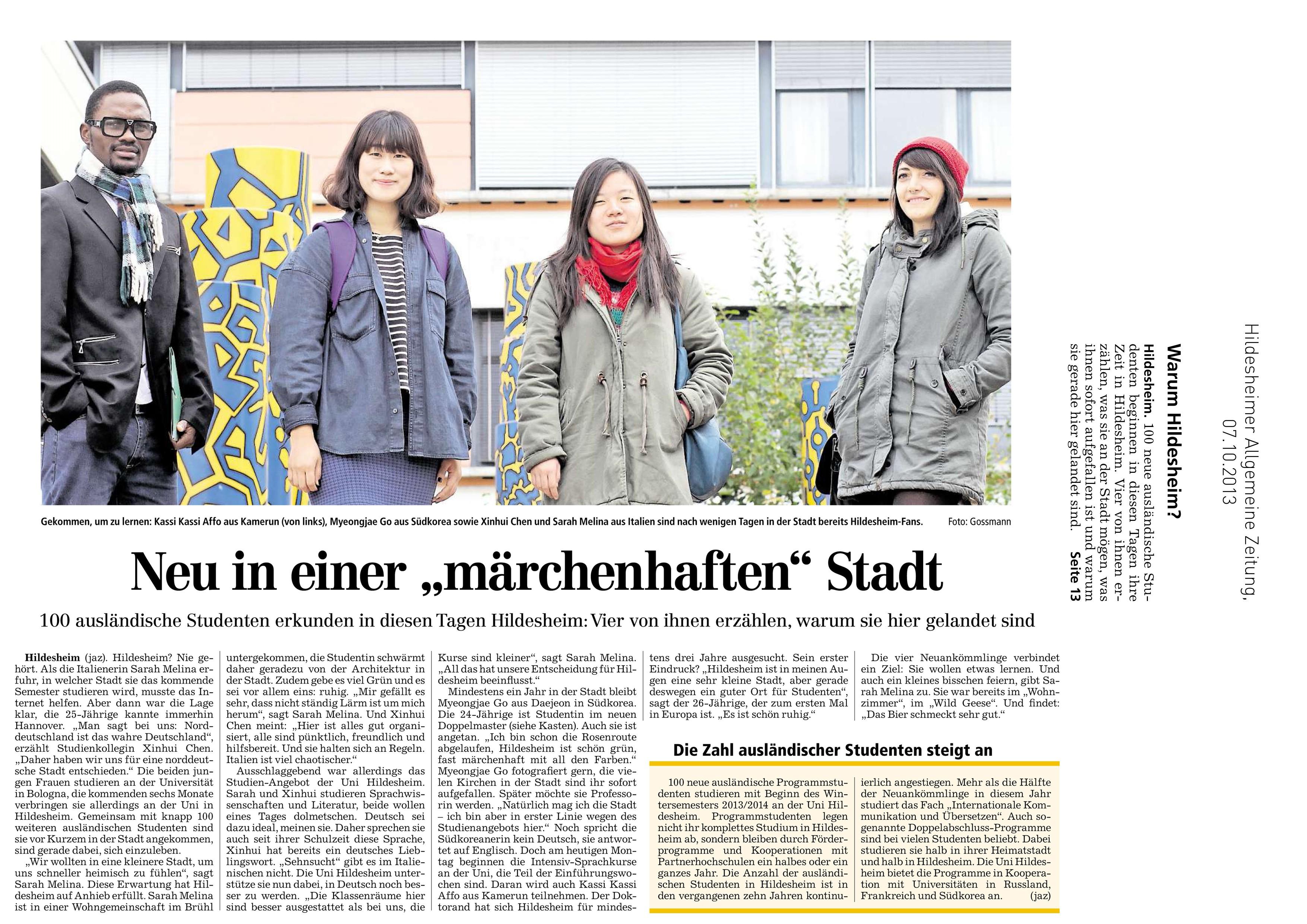 Hildesheimer allgemeine bekanntschaften