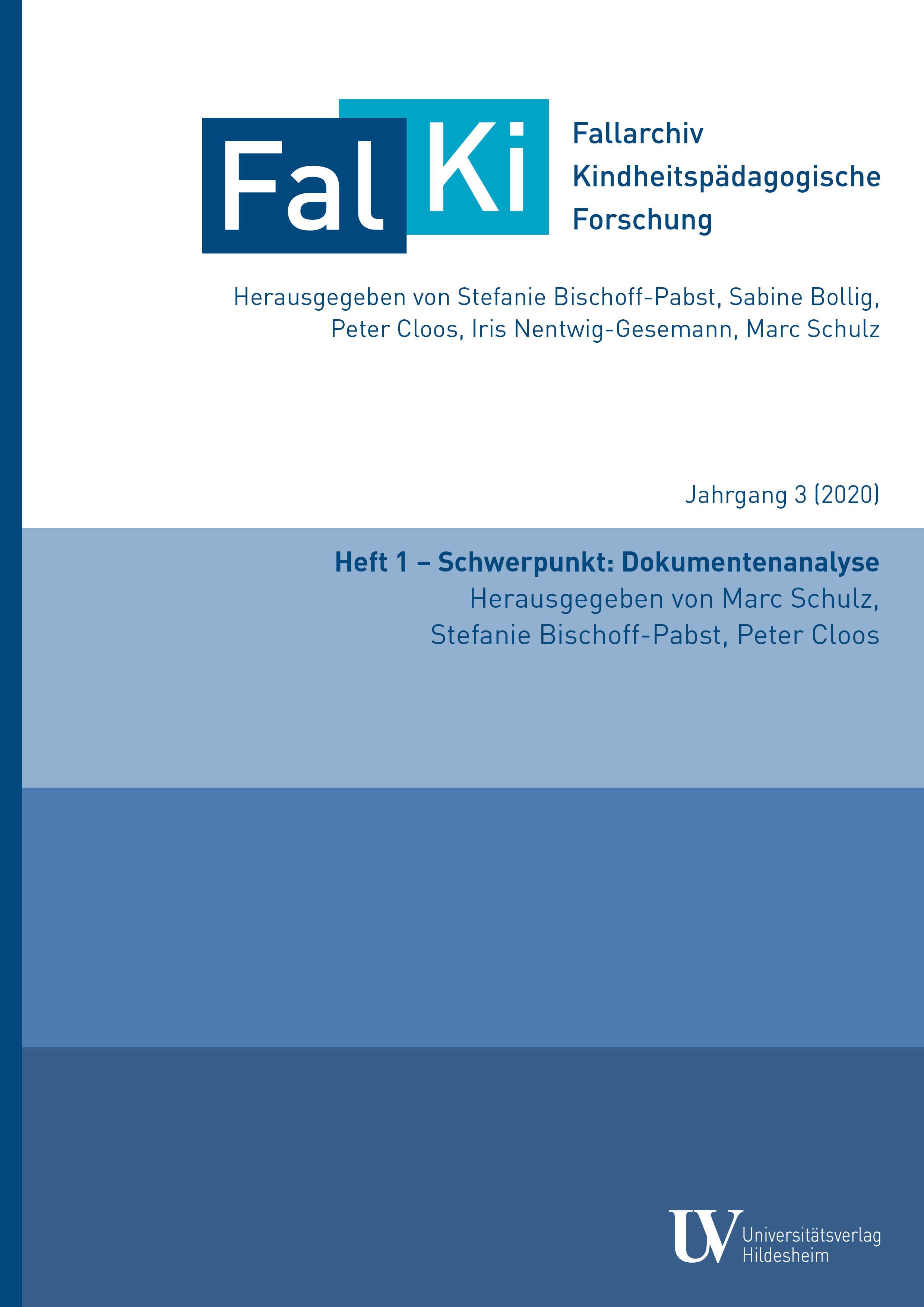 Ansehen Bd. 3 Nr. 1 (2020): Schwerpunkt: Dokumentenanalyse